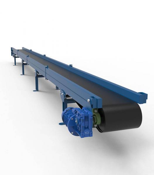 Ленточный транспортер для удаления опилок