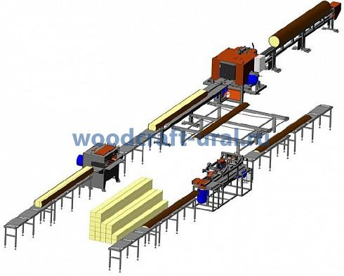 Тонкомерная линия лесопиления (Комплектация №1)