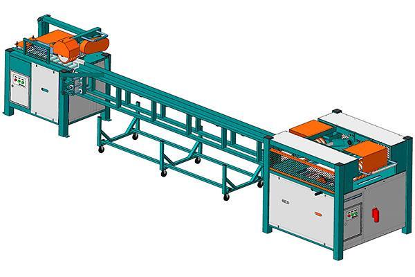 Линия переработки горбыля и горбыльной доски (ТМ–800) с КМ–500